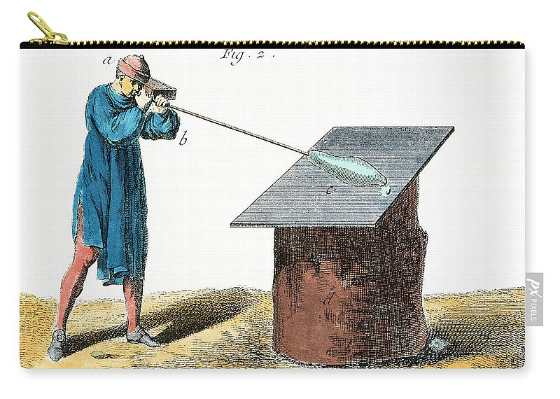 18th Century Carry-all Pouch featuring the photograph Glassblower, 18th Century by Granger