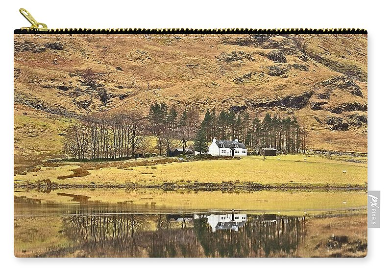 Cottage Carry-all Pouch featuring the photograph Glencoe Cottage II by Colette Panaioti