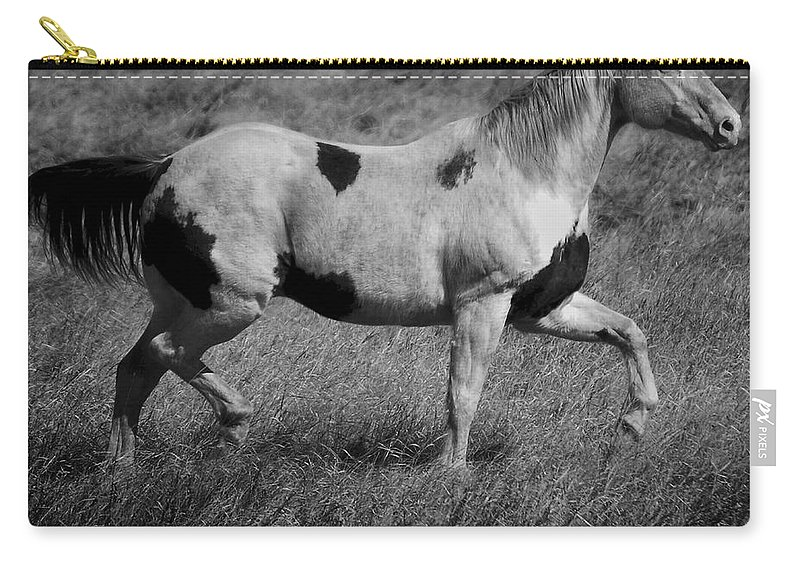 Horse Carry-all Pouch featuring the photograph Gliding Gladice by The Artist Project