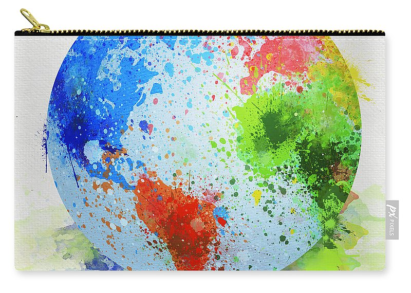 Globe Painting Carry All Pouch