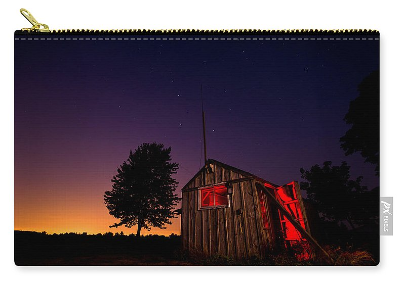 Shed Carry-all Pouch featuring the photograph Glowing Shed by Cale Best