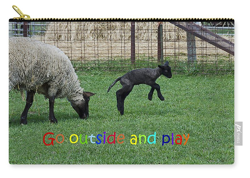 Usa Carry-all Pouch featuring the photograph Go Outside And Play Rainbow by LeeAnn McLaneGoetz McLaneGoetzStudioLLCcom