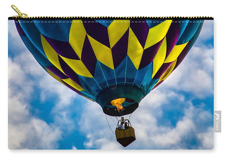 Hot Air Balloon Carry-all Pouch featuring the photograph Going Up by Bob Orsillo