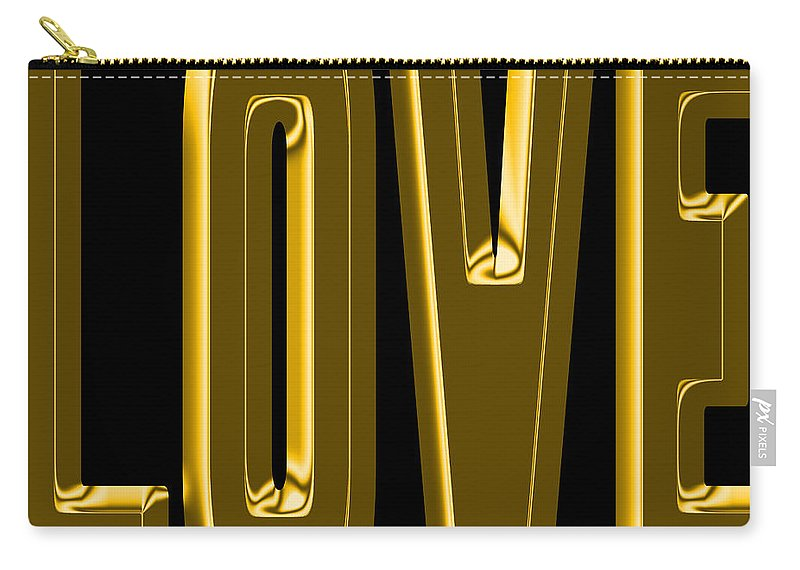 Love Carry-all Pouch featuring the photograph Gold Love by Andrew Fare