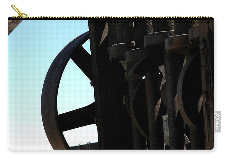 Usa Carry-all Pouch featuring the photograph Gold Mining Stone Crusher by LeeAnn McLaneGoetz McLaneGoetzStudioLLCcom
