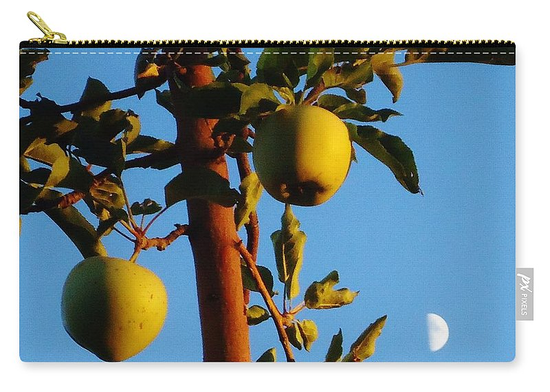 Tree Carry-all Pouch featuring the photograph Golden Apples by Lois  Rivera