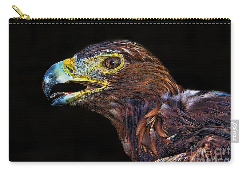 Golden Eagle Carry-all Pouch featuring the photograph Golden Eagle by Mariola Bitner