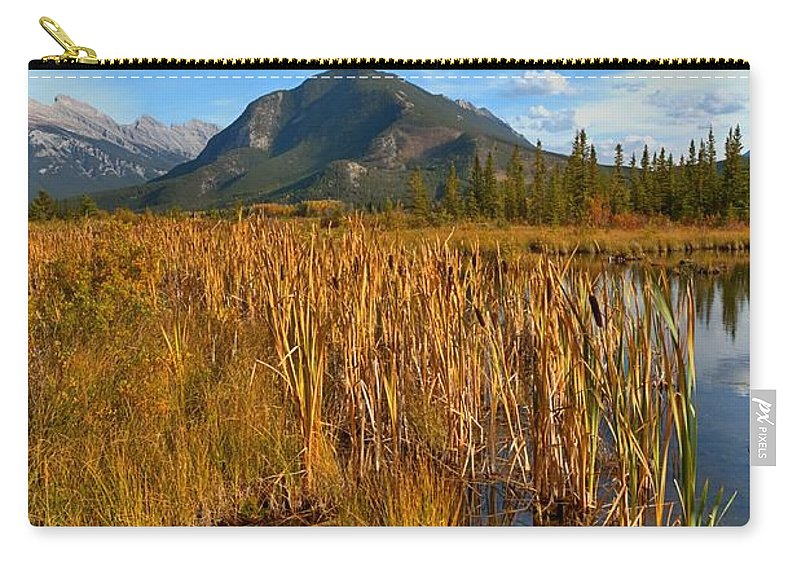 Bulrush Carry-all Pouch featuring the photograph Golden Fall by James Anderson
