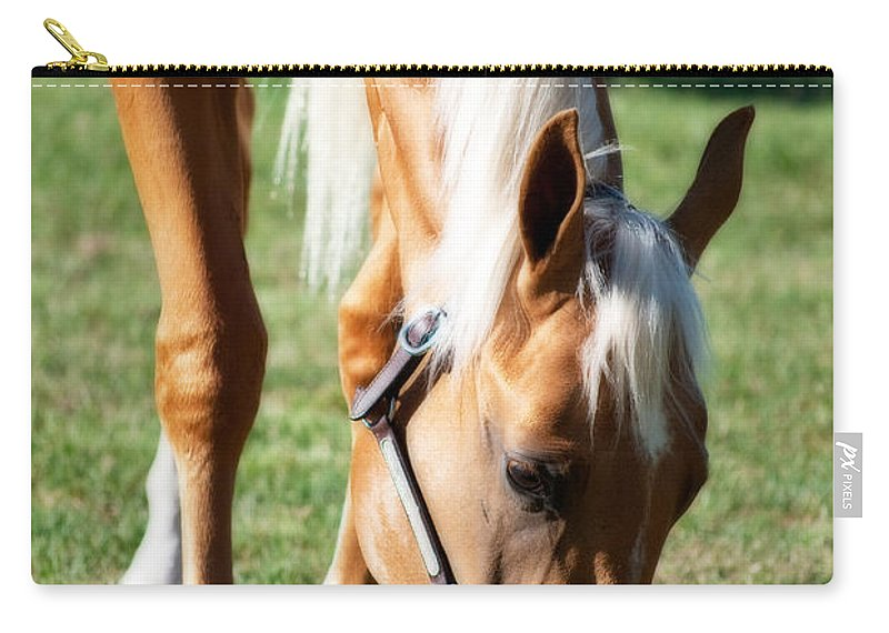 Horse Carry-all Pouch featuring the photograph Golden Girl by Michelle Wrighton