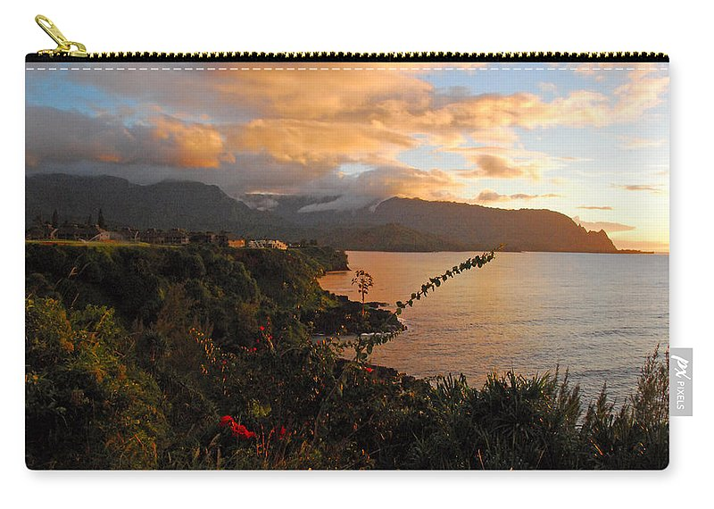 Anini Beach Carry-all Pouch featuring the photograph Golden Hour by Lynn Bauer