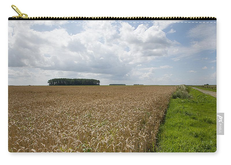 France Carry-all Pouch featuring the photograph Golden Landscape Of France by Ian Middleton