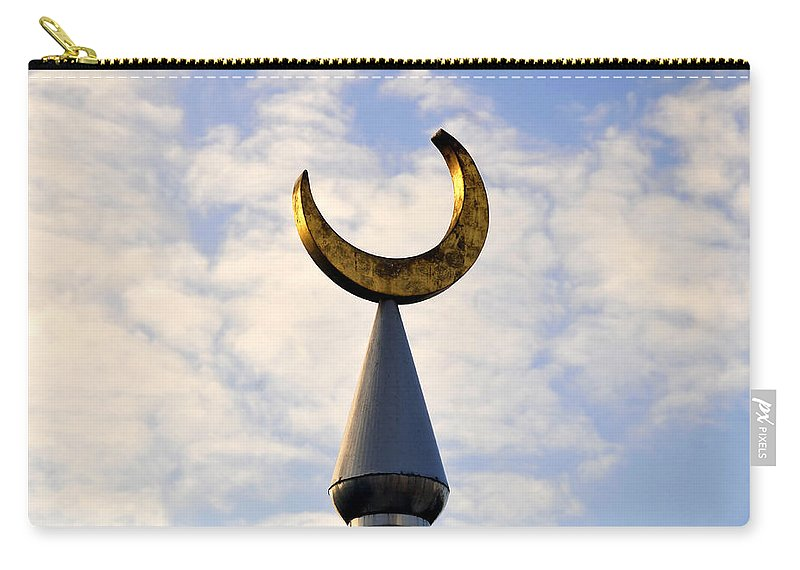 Fine Art Photography Carry-all Pouch featuring the photograph Golden Moon by David Lee Thompson