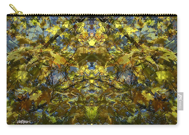 Golden Rorschach Carry-all Pouch featuring the photograph Golden Rorschach by Seth Weaver