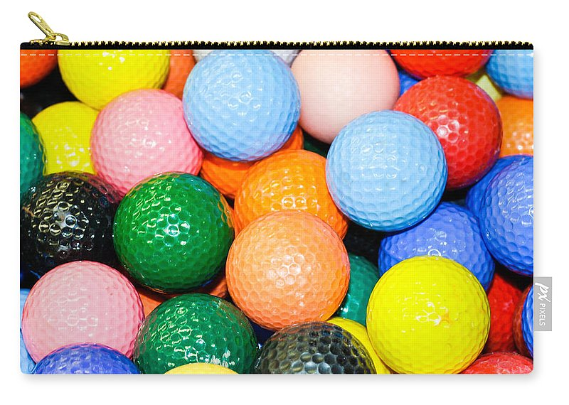 Abundant Carry-all Pouch featuring the photograph Golf Balls by Tom Gowanlock