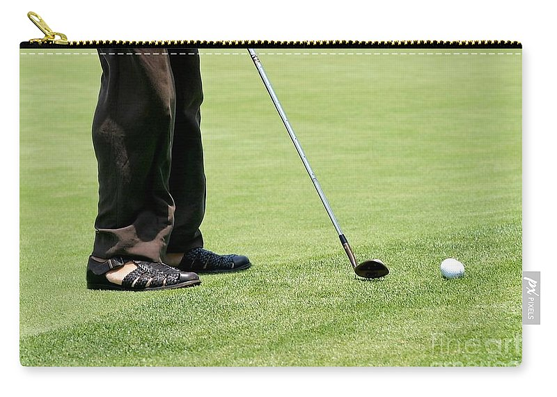 Carry-all Pouch featuring the photograph Golf Feet by Henrik Lehnerer