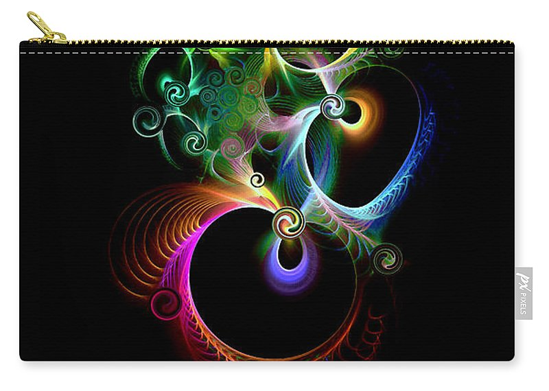 Good Luck Carry-all Pouch featuring the digital art Good Luck Charm by Klara Acel