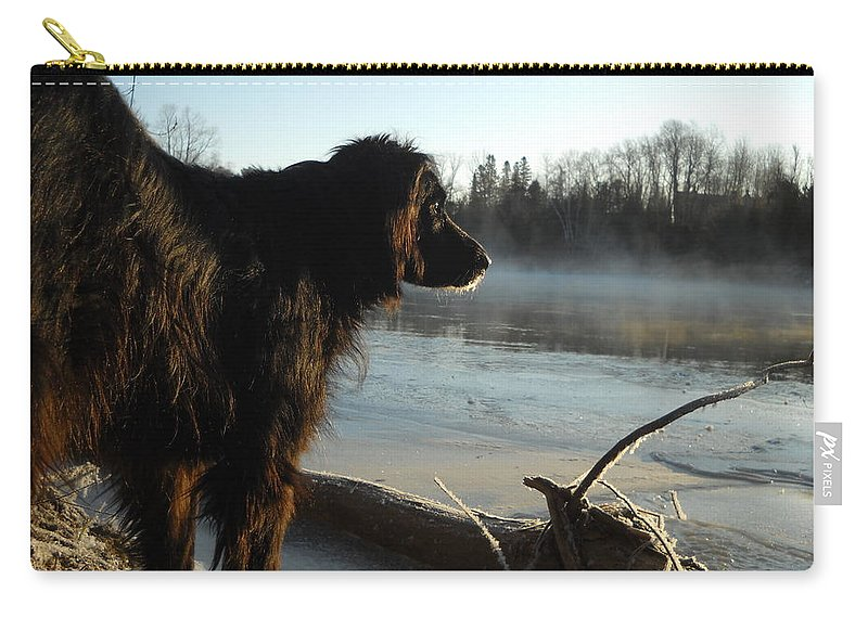 Dog Carry-all Pouch featuring the photograph Good Morning Mississippi River by Kent Lorentzen