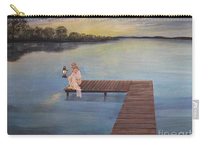 Summer Vacation Carry-all Pouch featuring the painting Good Morning World by Kris Crollard