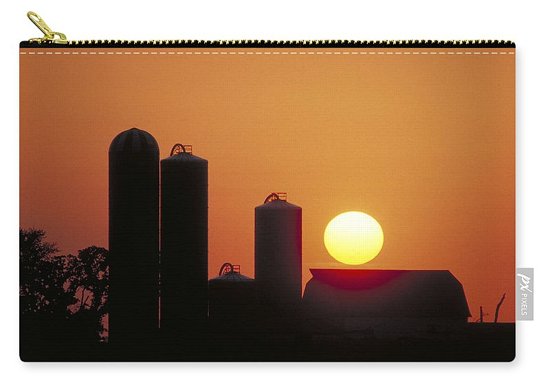 Farm Sunset Carry-all Pouch featuring the photograph Goodoboy's Sunset by Garry McMichael