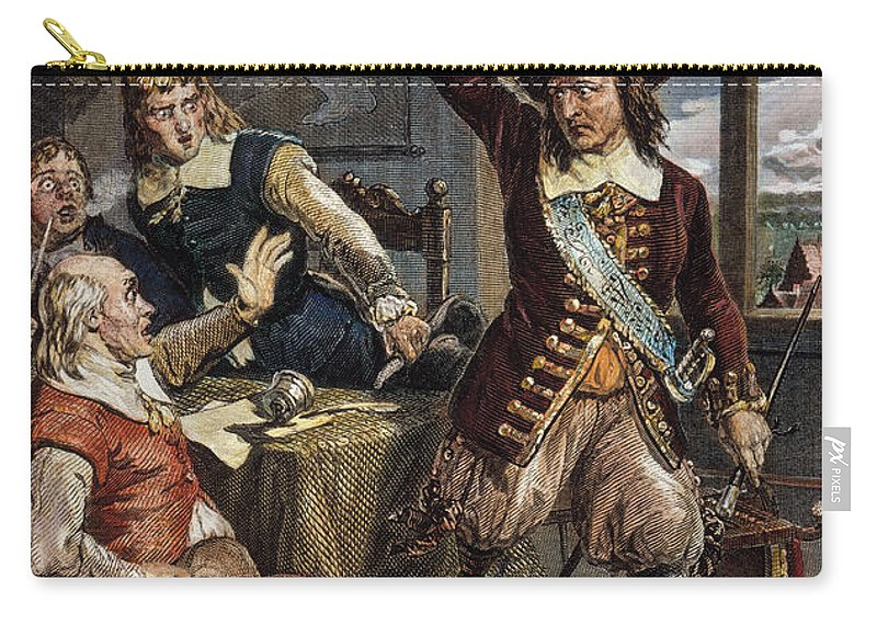 1664 Carry-all Pouch featuring the photograph Gov. Peter Stuyvesant by Granger