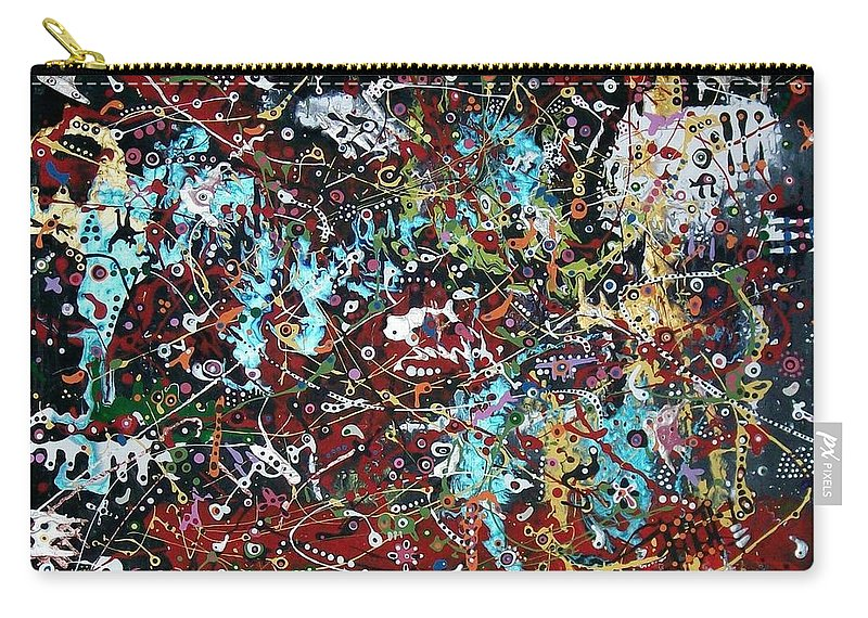 Abstract-expressionism Carry-all Pouch featuring the painting Government Bureaucracy Is Making Me Crazy by Charlotte Nunn
