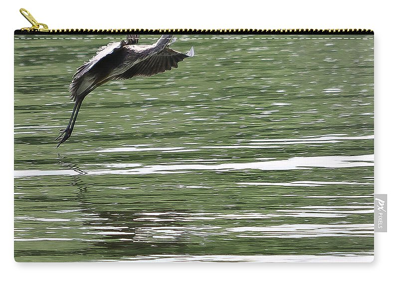 Graceful Carry-all Pouch featuring the photograph Graceful Landing by Scott Hervieux