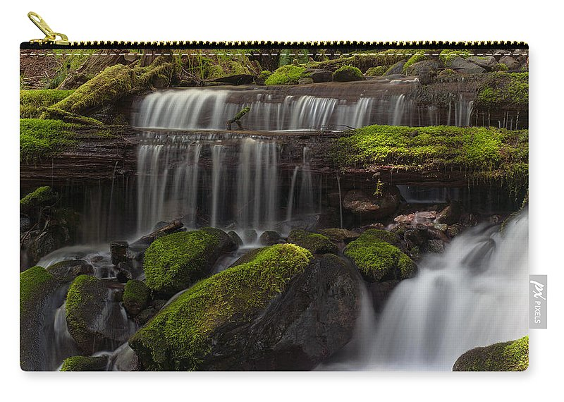 Olympic National Park Carry-all Pouch featuring the photograph Gracefully Flowing by Mike Reid