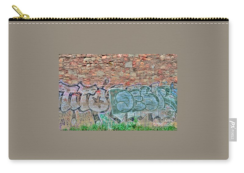 Graffiti Carry-all Pouch featuring the photograph Graffiti by Kathleen Struckle