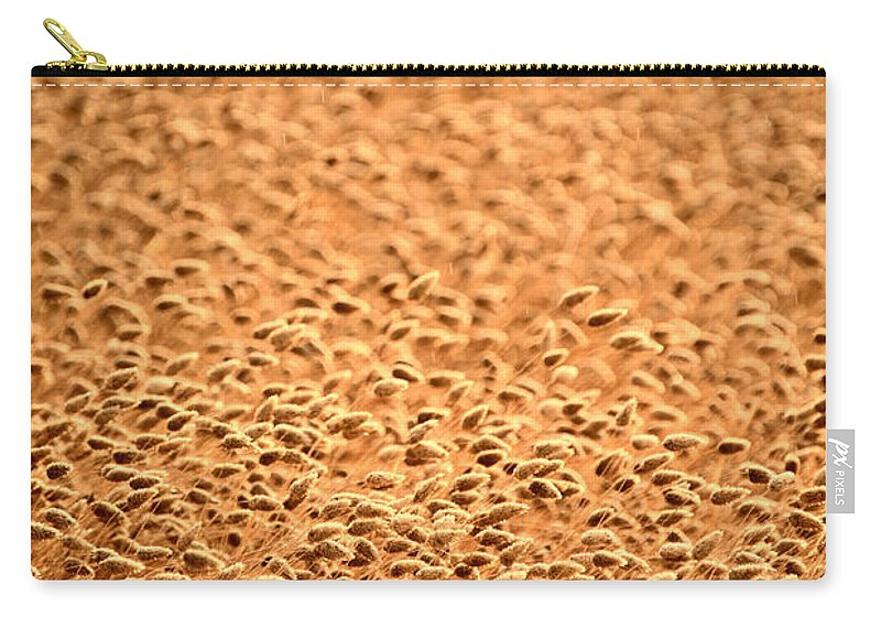 Grain Carry-all Pouch featuring the photograph grain crop ripening in Saskatchewan by Mark Duffy