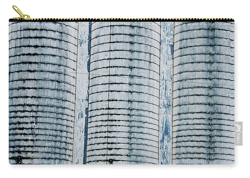 Grain Elevator Carry-all Pouch featuring the digital art Grain Elevator by Lizi Beard-Ward