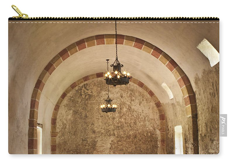 Missions Carry-all Pouch featuring the photograph Granary Lights by Kim Henderson