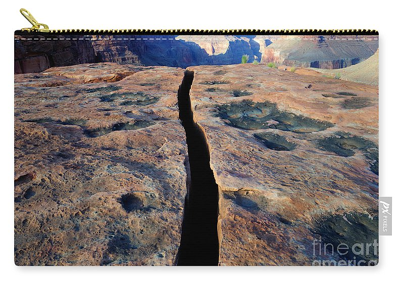 Grand Canyon Carry-all Pouch featuring the photograph Grand Canyon Dividing Line by Bob Christopher