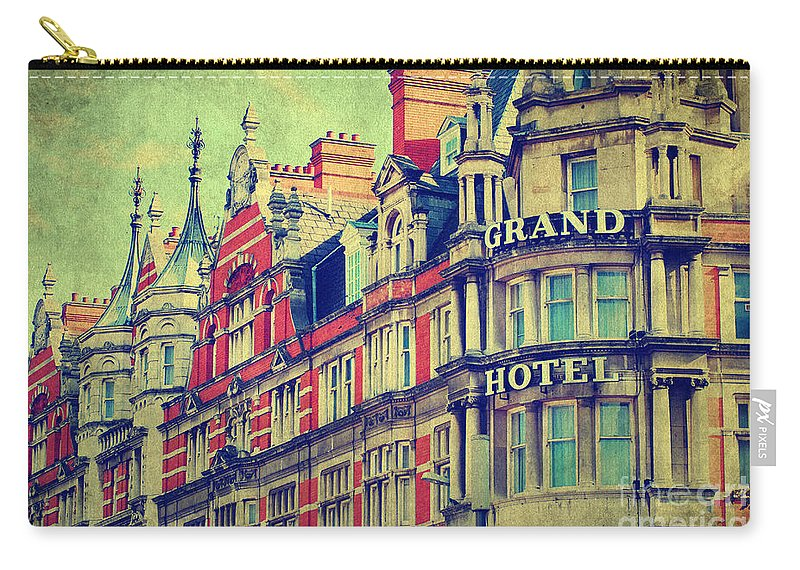 Yhun Suarez Carry-all Pouch featuring the photograph Grand Hotel by Yhun Suarez