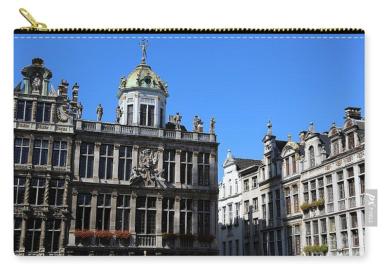 Grand Place Carry-all Pouch featuring the photograph Grand Place Buildings by Carol Groenen