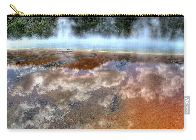 Yellowstone National Park Carry-all Pouch featuring the photograph Grand Prismatic Spring Iv by Jon Berghoff