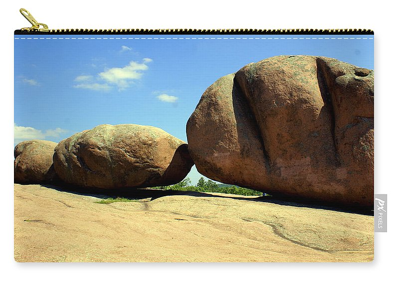 Boulders Carry-all Pouch featuring the photograph Granite Boulders 2 by Marty Koch