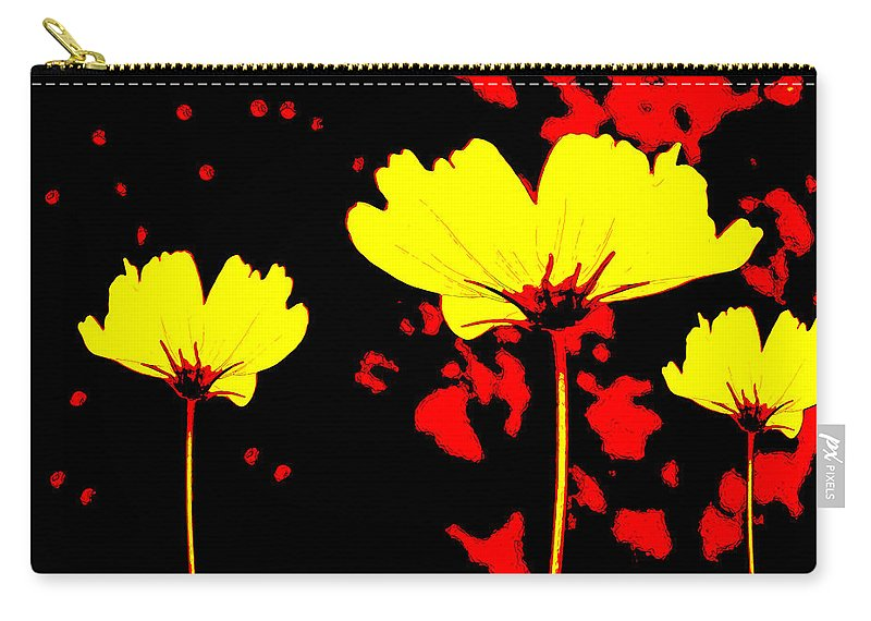 Wildflower Carry-all Pouch featuring the mixed media Graphic Three by Angelina Vick