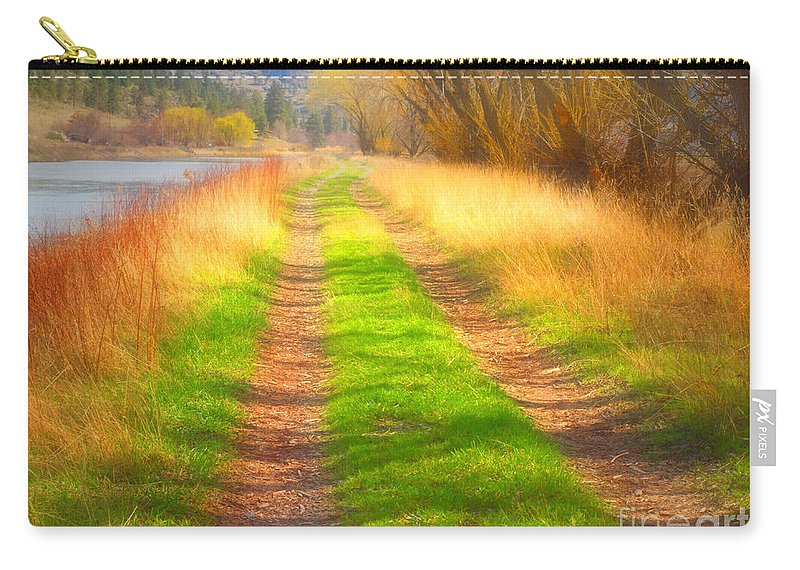 Carry-all Pouch featuring the photograph Grass And Shadows by Tara Turner