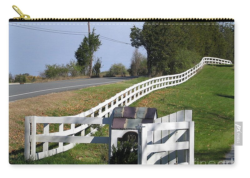 Play Carry-all Pouch featuring the photograph Grass Is Greener by Art Dingo