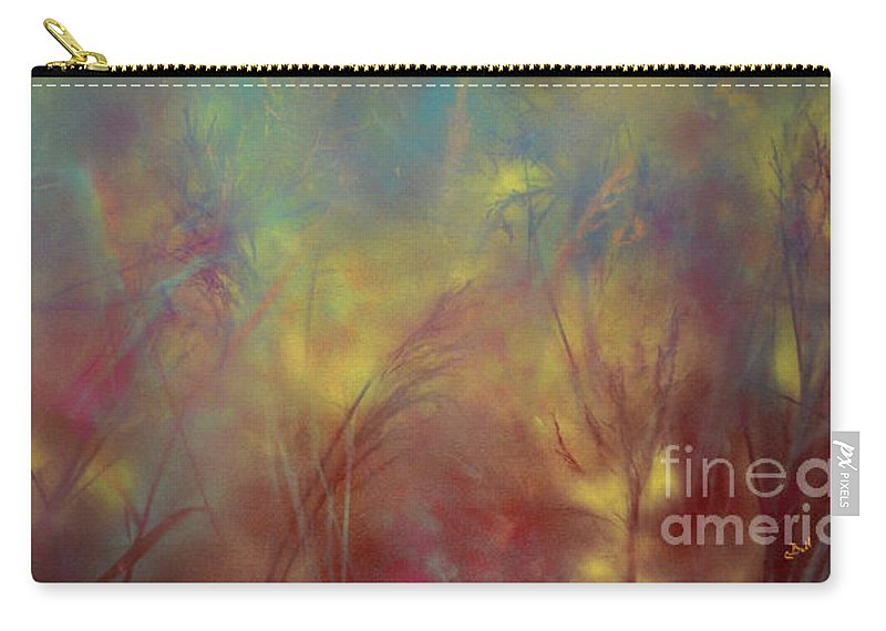 Grass Carry-all Pouch featuring the painting Grasses by Claire Bull