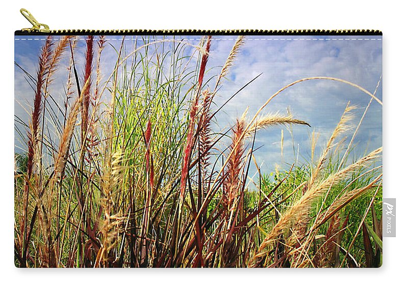 Grass Carry-all Pouch featuring the photograph Grasses Standing Tall by Joyce Dickens