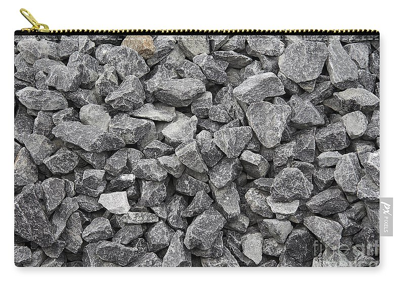 Stone Carry-all Pouch featuring the photograph Gravel - Road Metal by Michal Boubin