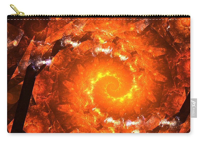 Zero Gravitation Universe Black Hole Super Nova Explosion Star Stars Born Time Carry-all Pouch featuring the digital art Gravitation Zero by Steve K