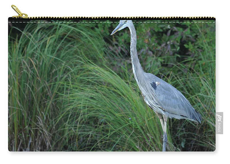 Bird Carry-all Pouch featuring the photograph Great Blue Heron by Ronald Grogan