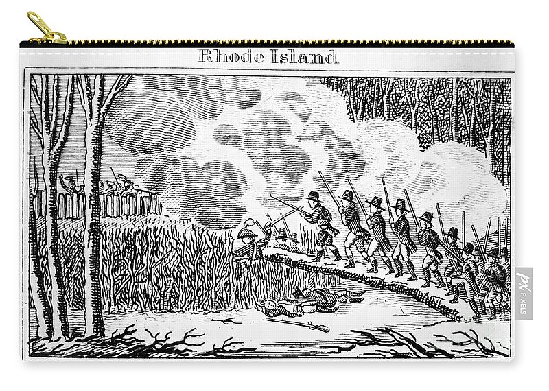1675 Carry-all Pouch featuring the photograph Great Swamp Fight, 1675 by Granger