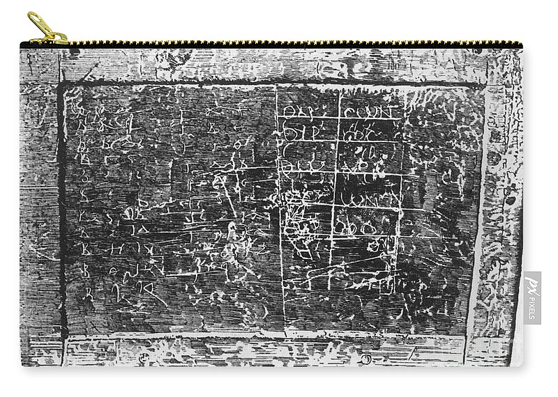 Math Carry-all Pouch featuring the photograph Greek Multiplication Table by Science Source