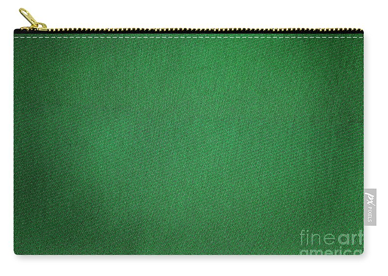Background Carry-all Pouch featuring the photograph Green Grunge Textile by Henrik Lehnerer