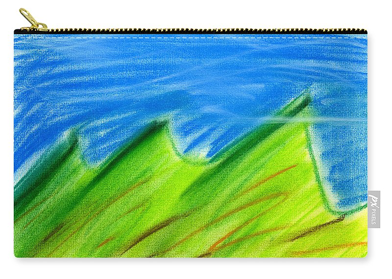 Pastel Carry-all Pouch featuring the painting Green Hills by Hakon Soreide