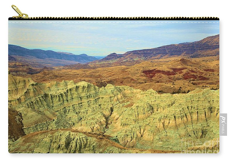 John Day Fossil Beds National Monument Carry-all Pouch featuring the photograph Green Mountains by Adam Jewell