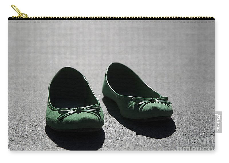Green Carry-all Pouch featuring the photograph Green Shoes by Mats Silvan